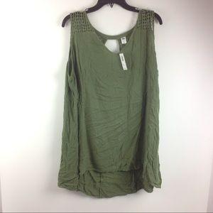 New Old Navy Women's Shirt Size 3X Green